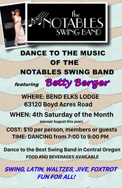 Swing, Latin, Waltzes, Jive, Foxtrot. Fun for all at the Bend Elks Lodge.